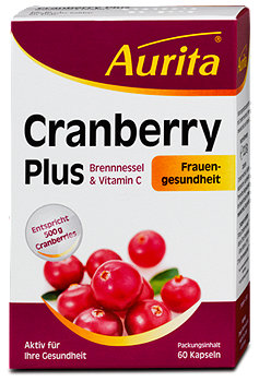 Aurita Cranberry Plus Brennnessel & Vitamin C Kapseln