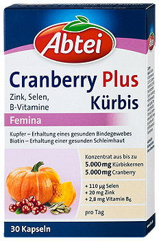 Abtei Kürbis Plus Cranberry Femin Kapseln