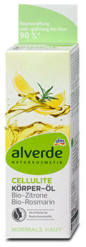 alverde Cellulite Körperöl Bio-Zitrone Bio-Rosmarin