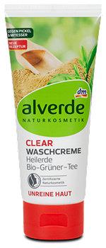 alverde Clear Waschcreme Heilerde und Bio-Grüner-Tee