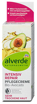 alverde Intensiv Repair Pflegecreme Avocado