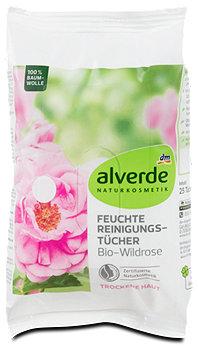 alverde Feuchte Reinigungs-Tücher Wildrose