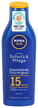 Nivea Sun Schutz & Pflege Sonnenmilch LSF 15