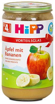 Hipp Fruchtbrei Äpfel mit Bananen