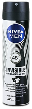Nivea Men Deodorant Invisible For Black & White
