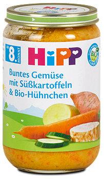 Hipp Menü Buntes Gemüse mit Süßkartoffeln und Bio-Hühnchen