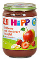 Hipp Fruchtbrei Erdbeere mit Himbeere in Apfel