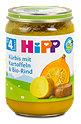 Hipp Menü Kürbis mit Kartoffeln und Bio-Rind