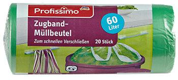 Profissimo Zugband-Müllbeutel 60 Liter