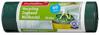 Profissimo Recycling Zugband-Müllbeutel 60 Liter