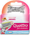 Wilkinson Sword Quattro woman Papaya & Pear Rasierklingen