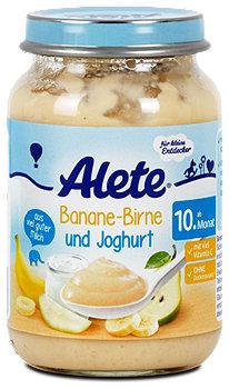 Alete Fruchtbrei Banane-Birne und Joghurt