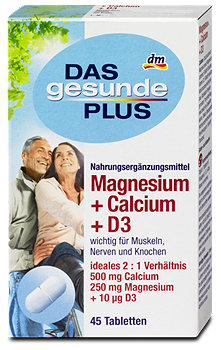 DAS gesunde PLUS Magnesium + Calcium + D3 Tabletten