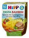 Hipp Menü Pasta Bambini Spätzle mit Gemüse und Bio-Rind