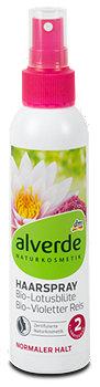 alverde Haarspray Bio-Lotusblüte Bio-Violetter Reis