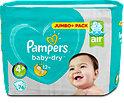 Pampers baby-dry Windeln Gr. 4+ (9-18 kg) Jumbo+ Pack