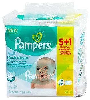 Pampers fresh clean Feuchttücher