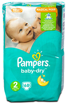 Pampers baby-dry Windeln Gr. 2 (3-6 kg)
