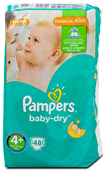Pampers baby-dry Windeln Gr. 4+ (9-18 kg)
