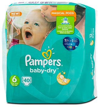 Pampers baby-dry Windeln Gr. 6 (15+ kg) Big Bag