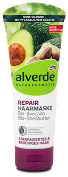 alverde Repair-Haarmaske Bio-Avocado Bio-Sheabutter