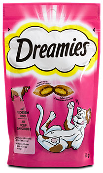 Dreamies Katzensnacks mit leckerem Rind