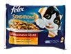 felix Sensations Katzenfutter in schmackhaftem Gelee