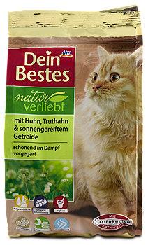 Dein Bestes naturverliebt Katzenfutter Huhn Truthahn Beutel