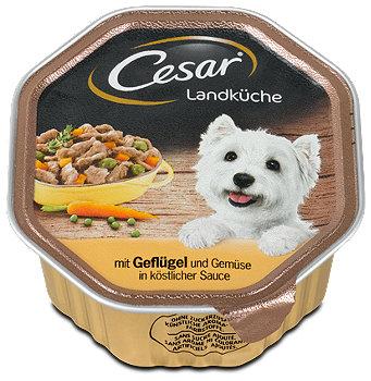 Cesar Hundefutter Geflügel & Gemüse in Sauce