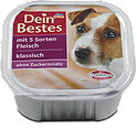 Dein Bestes klassisch Hundefutter mit Fleisch Schälchen