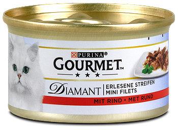 Gourmet Diamant Katzenfutter mit Rind