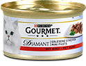 Gourmet Diamant Erlesene Streifen Katzenfutter mit Rind