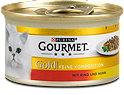 Gourmet Gold Katzenfutter mit Rind und Huhn