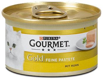 Gourmet Gold Feine Pastete Katzenfutter mit Huhn