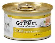 Gourmet Gold Katzenfutter Feine Pastete mit Huhn