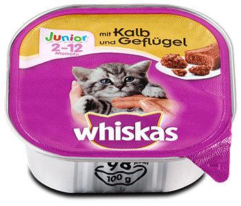 whiskas Junior Katzenfutter mit Kalb und Geflügel