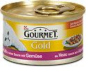 Gourmet Gold Katzenfutter mit Kalb in Sauce mit Gemüse