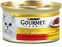Gourmet Gold Katzenfutter mit Rind und Huhn in Sauce