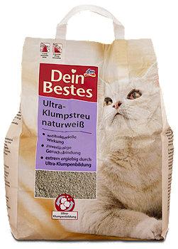 Dein Bestes Katzen Ultra-Klumpstreu naturweiß