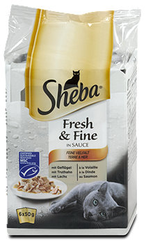 Sheba Fresh & Fine Katzenfutter Feine Vielfalt in Sauce