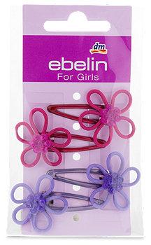 ebelin Kinder-Haarclips mit Blüten sort.