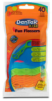 DenTek Kids Fun Flossers Interdentalreinigung Wildfrucht