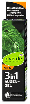 alverde MEN 3in1 Augen-Gel