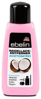 ebelin Nagellackentferner acetonfrei Kokosduft