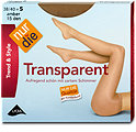 nur die Trend & Style Transparent Strumpfhose 15 DEN