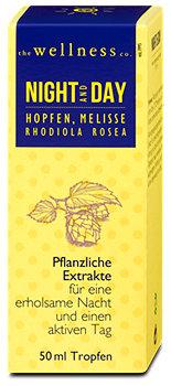 the wellness co. night & day Pflanzenextrakte Tropfen