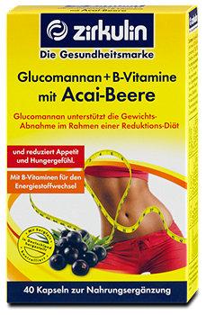 zirkulin Glucomannan + B-Vitamine mit Acai-Beere Kapseln