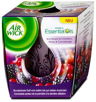 Air Wick Wohlfühl Duftkerze Brombeere & Cranberry