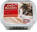 Dein Bestes klassisch Katzenfutter mit Rind Schälchen