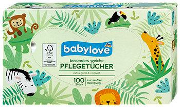 babylove besonders weiche Pflegetücher 3-lagig